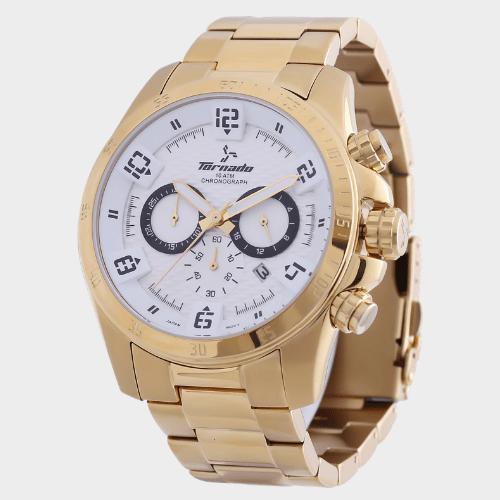 Tornado Men's Chronograph Watch White Dial T3149-GBGWB price in Qatar