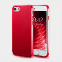 Fashionable Ultra-Thin Soft Red color Silicone Back Case For iPhone 7 Price in Qatar