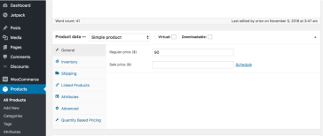 WooCommerce dynamic pricing - simple product example