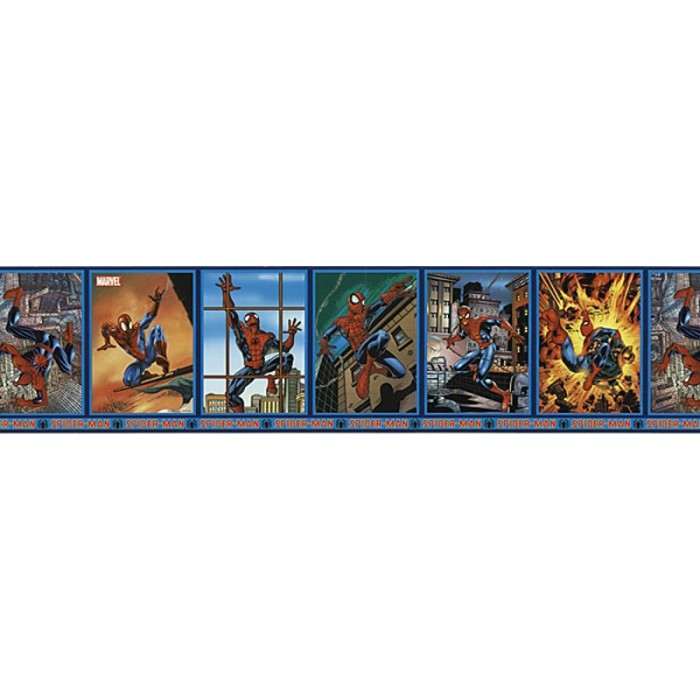 JJ6899B  SpiderMan Frames Border  Discount Wallcovering