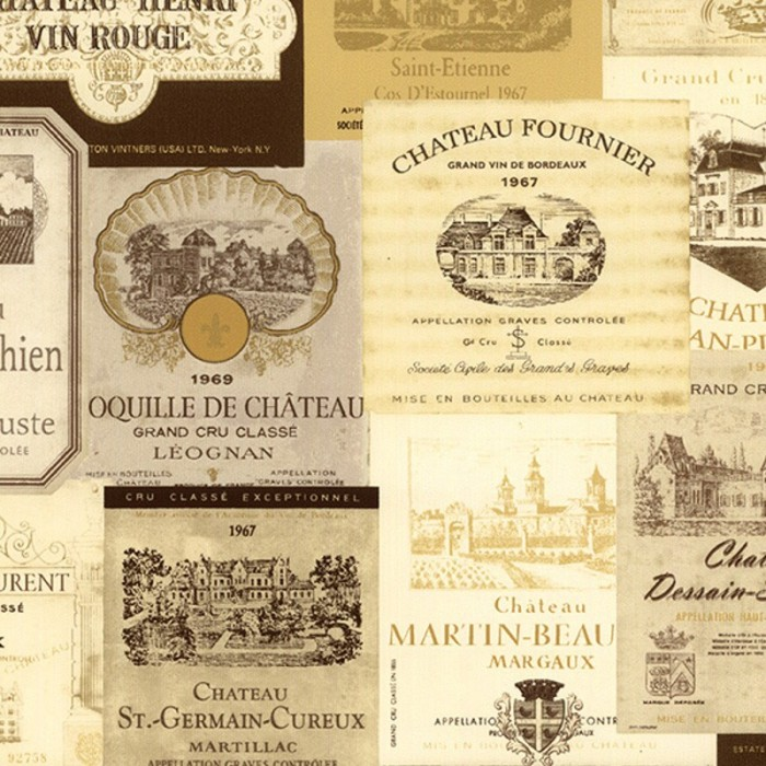 KK26755Vintage French Wine Labels WallpaperDiscount