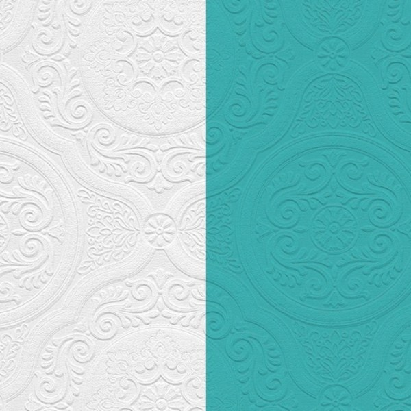 48932 - Paintable Damask Texture Wallpaper