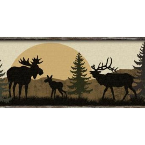 Lm7946bd - Scenic Silhouette Border Wallcovering