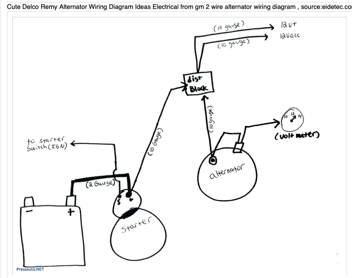 [DIAGRAM] 1100700 Delco Alternator Wiring Diagram FULL
