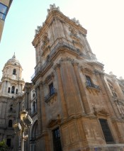 View of Málaga's cathedral and its unfinished tower