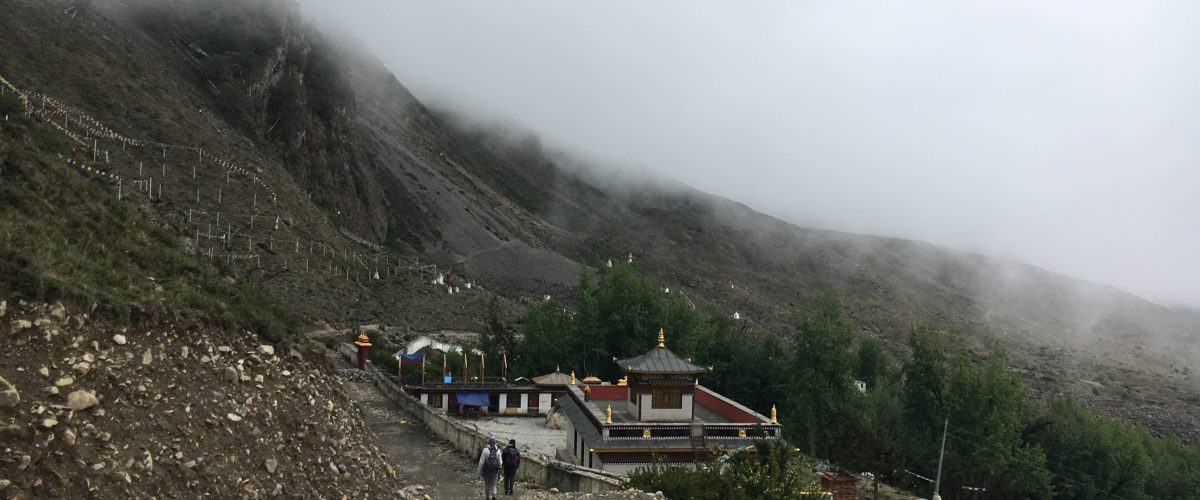 the road from Muktinath to Jomsom