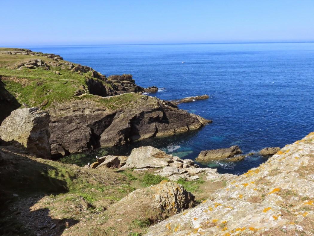 Sunny Pen Men on the island of Groix