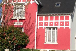 A colorful house in the main village of the island of Groix