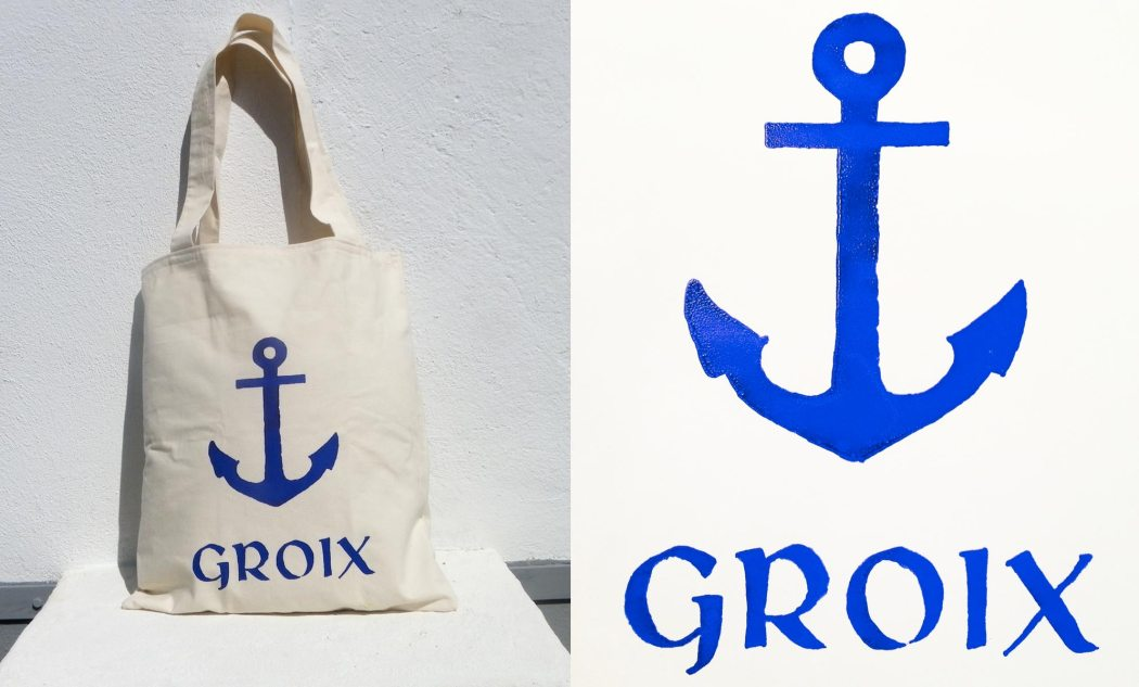 Handmade tote bag and poster by audemarine, Discover Groix