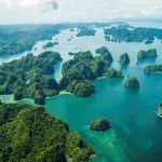 Halong Bay viewed by seaplane