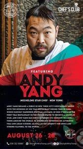 Andy Yang At Chef's Club- SKylight Nha Trang