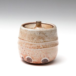 Phil Rogers Shino Lidded Jar