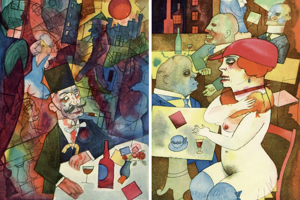 george-grosz-plutocrat-naked-woman-tables