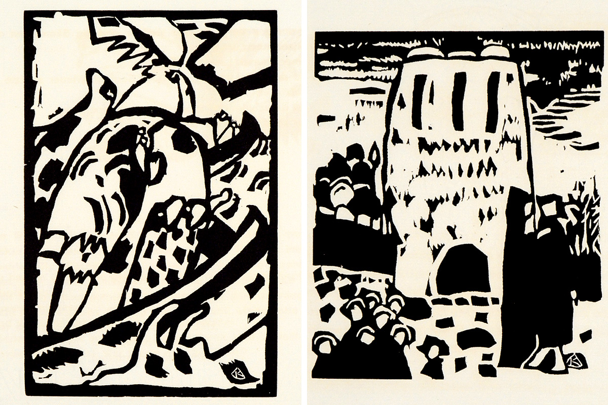 Kandinsky-Klange-Woodcuts-Improvisations-1-and-7