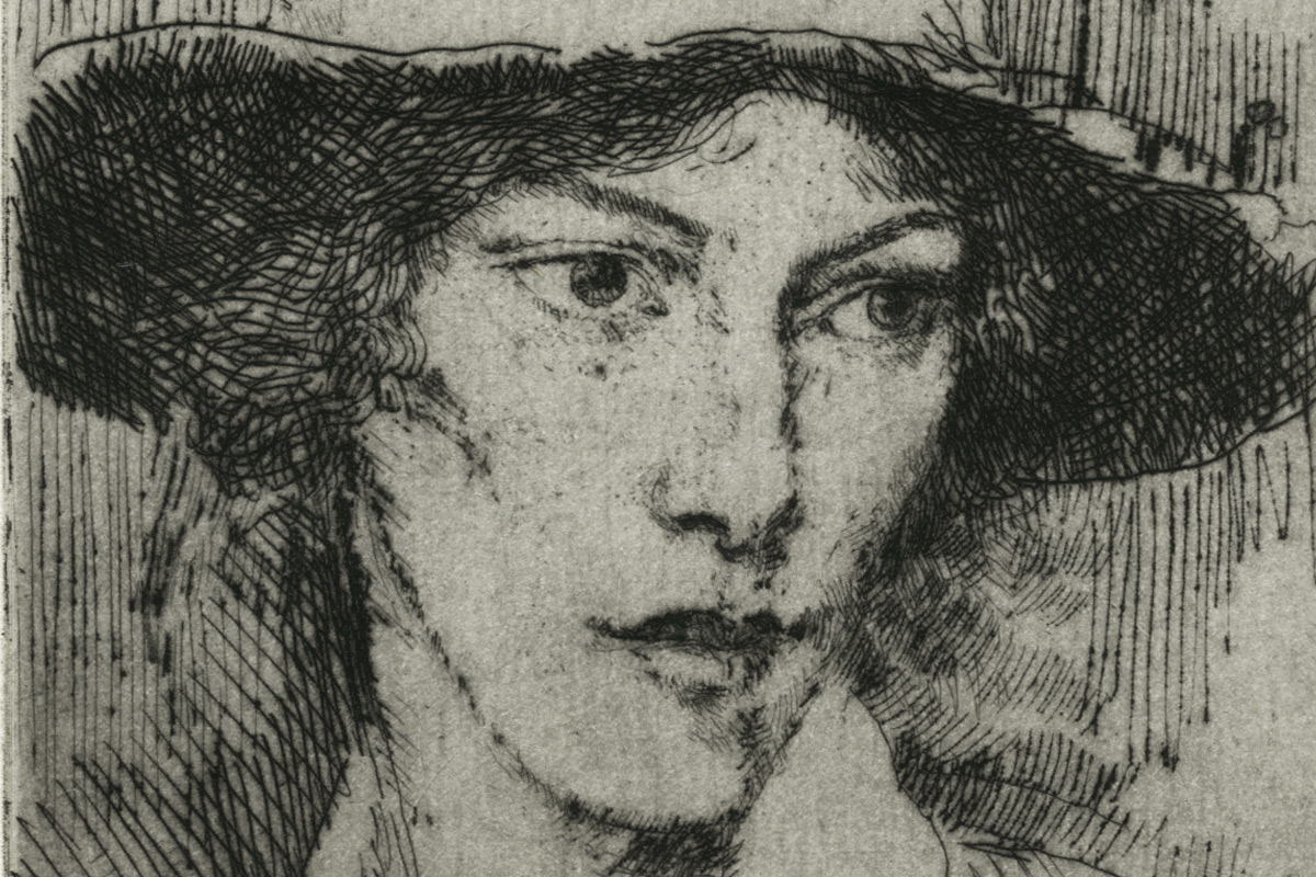 Augustus-John-Girl-Wearing-A-Hat-Etching