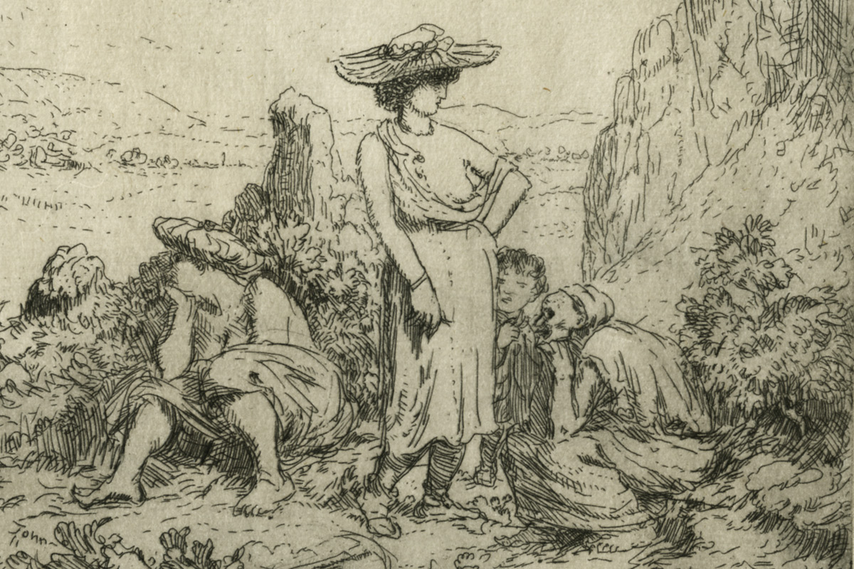 Augustus-John-Quarry-Folk-Etching