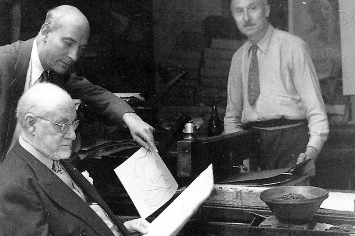 Henri-Matisse-With-Mourlot-Freres-Lithographers-Studio