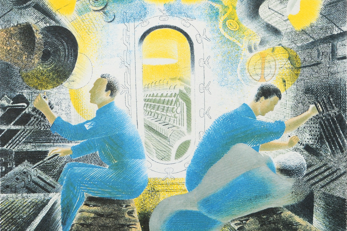 Eric-Ravilious-Diving-Controls-Submarine-Dream