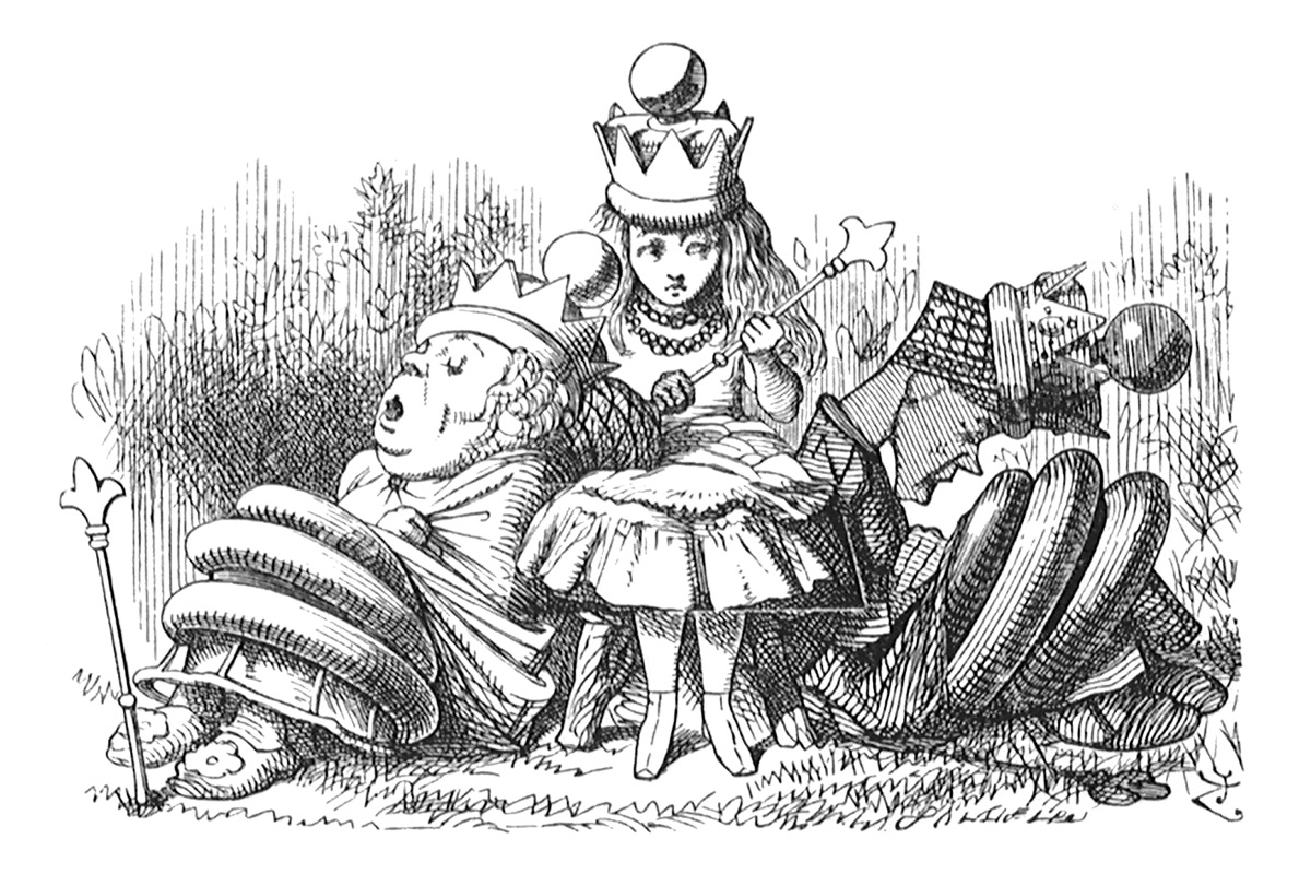 john-tenniel-alice-in-wonderland-wood-engravings-sleeping-queens