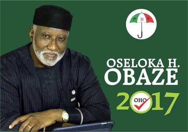 Oseloka Obazee, PDP Candidate in Anambra