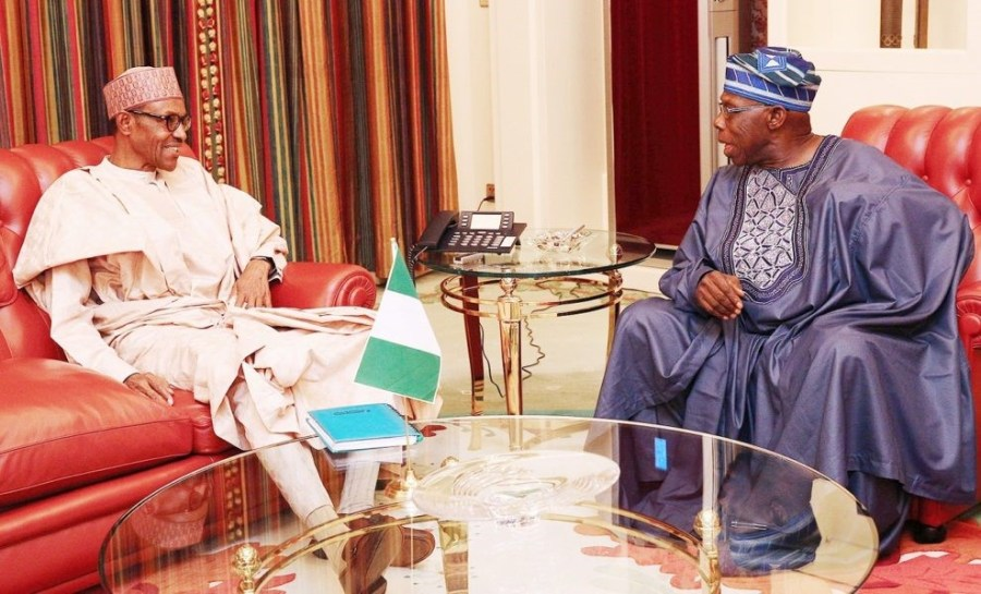 Buhari (Left) and Obasanjo