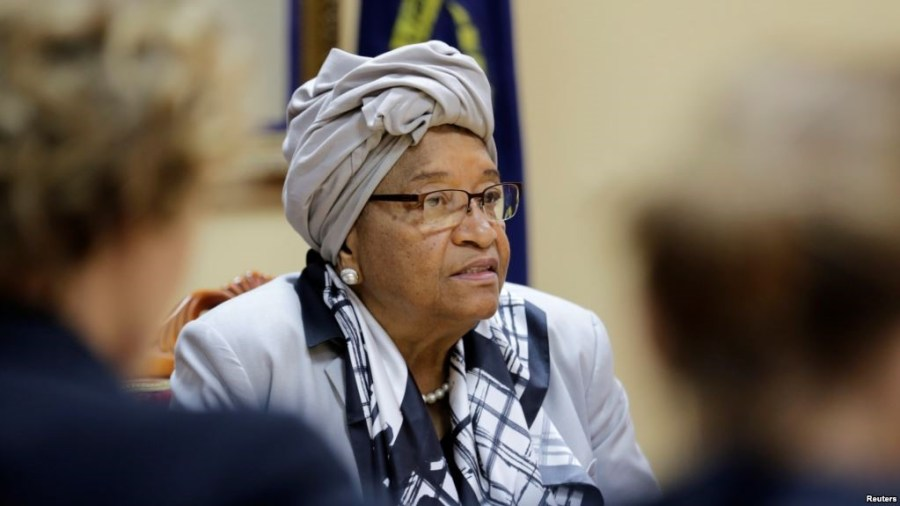 Out-going Liberia's President, Ellen Johnson Sirleaf