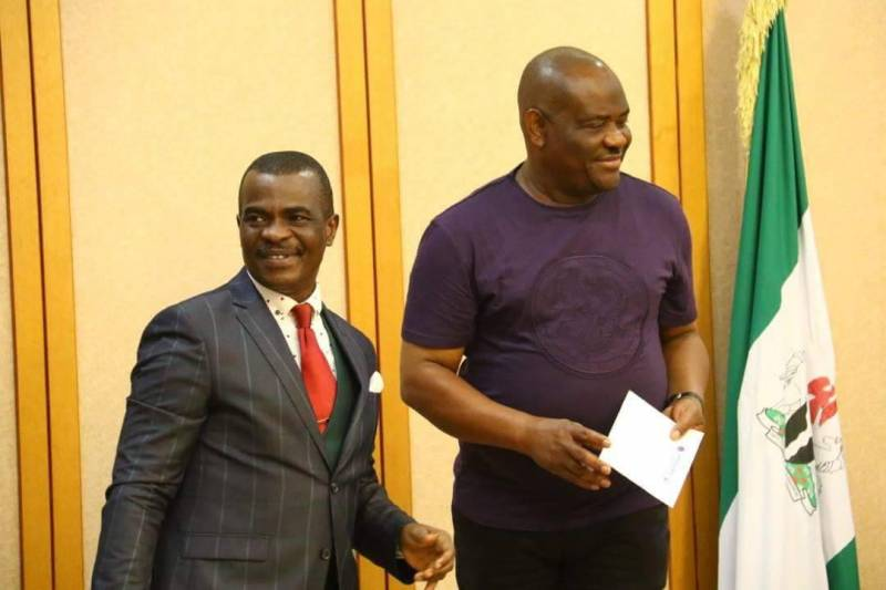 From Left to Right: Mitchell Obi, President of AIPS Africa, and Ezenwo Nyesom Wike, Governor of Rivers State of Nigeria