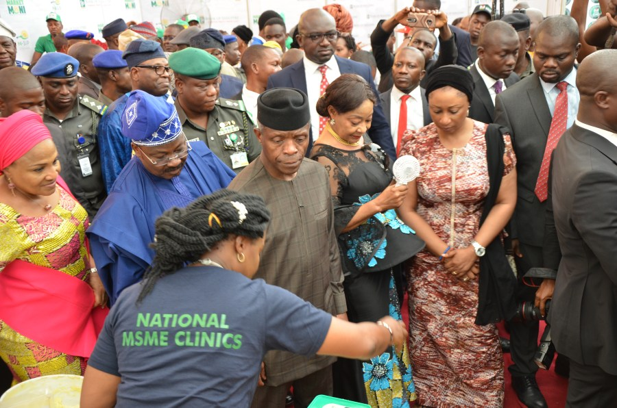 Vice President Yemi Osinbajo at the launch of Oyo State MSME clinic recently