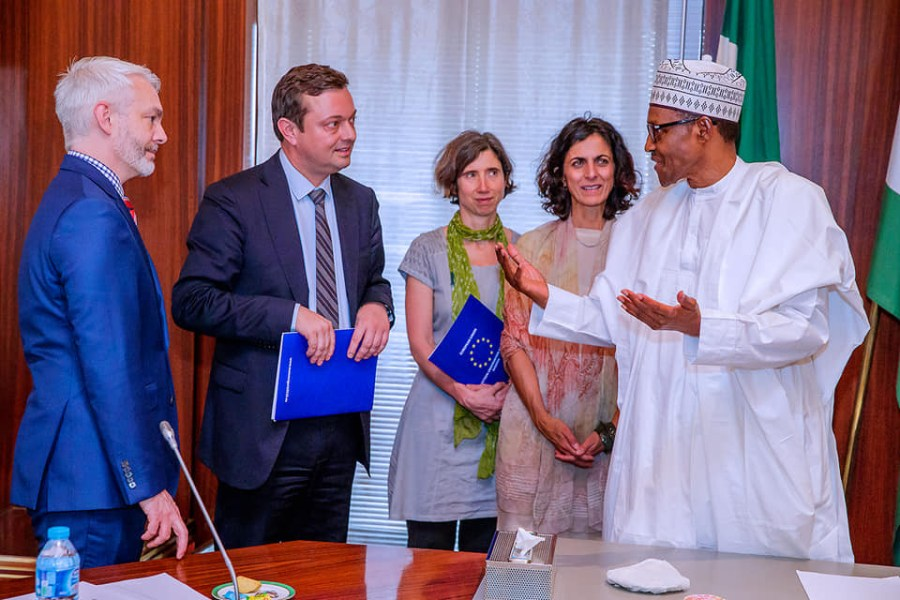 Buhari receives delegation of EU election observers in Abuja on Tuesday