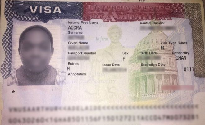 The US accuses 7,000 Ghanaians of abusing the terms of their visas. Credit/BBC
