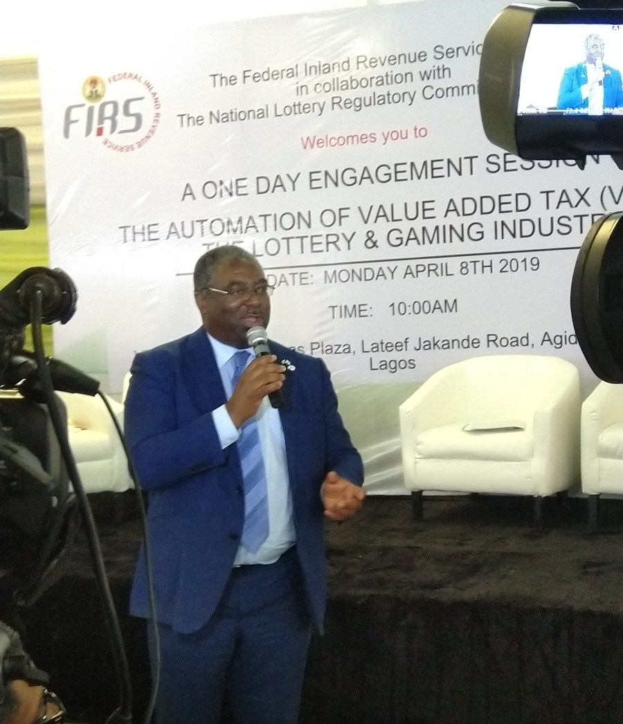 Executive Chairman of FIRS, Tunde Fowler said the automation of collection of VAT from all lottery placements is a lawful way of raising the country's revenue profile to enable the government function optimally.