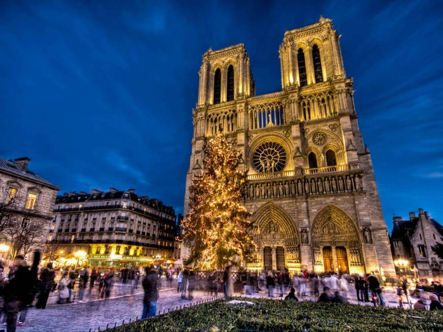 Notre-Dame cathedral before the fire incident