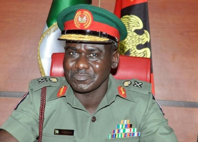 Nigeria's Chief of Army Staff, Lt.-Gen. Tukur Buratai