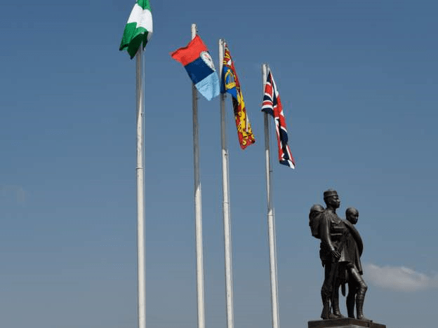 A statue honouring lost soldiers in Abuja, Nigeria