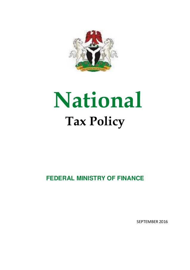 National Tax Policy for Nigeria
