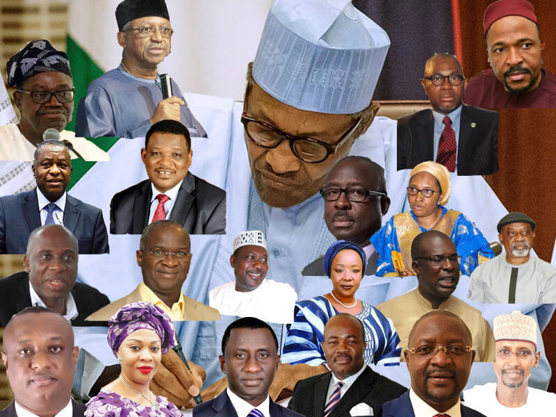 Crop of new ministers in Nigeria.