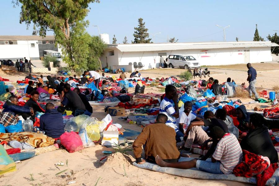 migrants in Libya detention center hit by deadly air strike