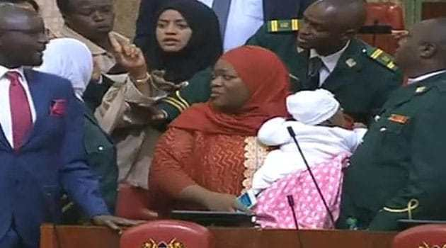 Kenyan MP, Zulekha, kicked out of parliament for carrying baby
