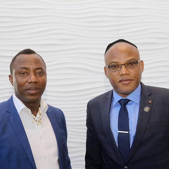 L-R: Omoyele Sowore and Nnamdi Kanu