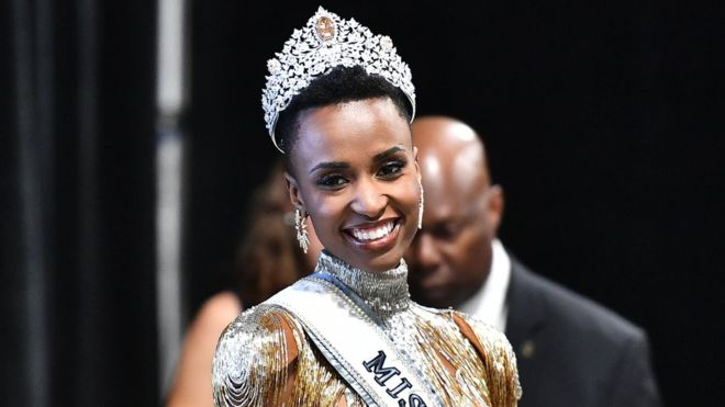 Tunzi Zozibini is the first black woman to win the Miss Universe competition since Leila Lopes in 2011.