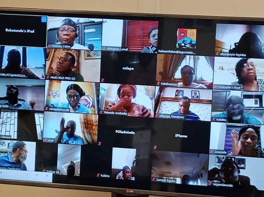 Lagos State Government also shared its clips of video-conferencing