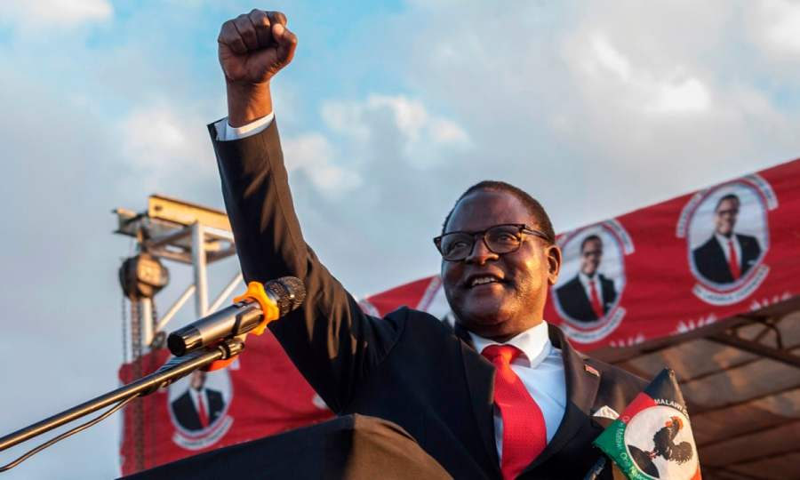 Opposition party takes over in Malawi with 8.57% win margin