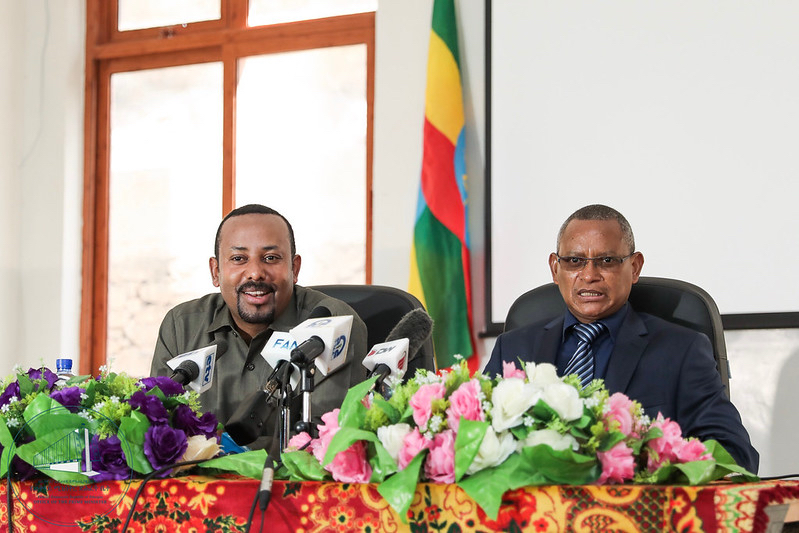 Ethiopia's Prime Minister Abiy Ahmed and the leader of Tigray, Debretsion Gebremichael