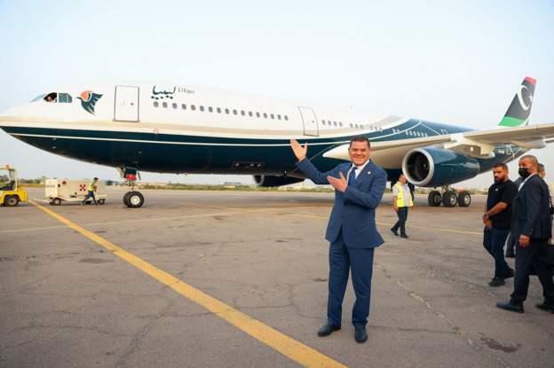Muammar Gaddafi's Flying Palace back home