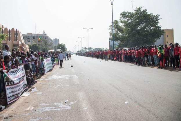 here was the scene in the capital Bamako shortly beforehand: