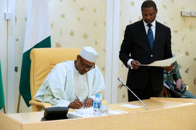 Malami with President Buhari, Twitter was banned in Nigeria 5 days ago