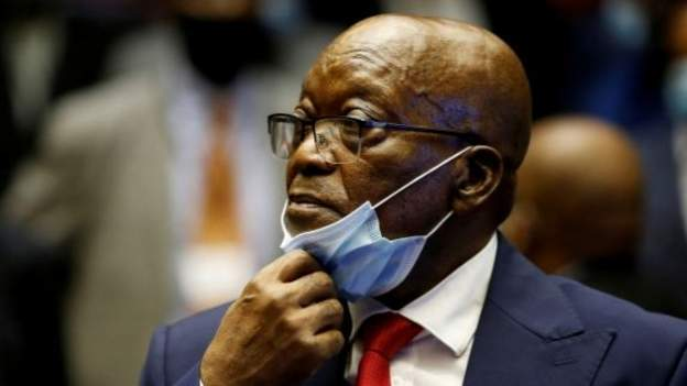 Mr Zuma was handed a 15-month prison term