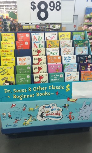 High cost of children's books. Picture taken by a customer at a local chain store of expensive kids books