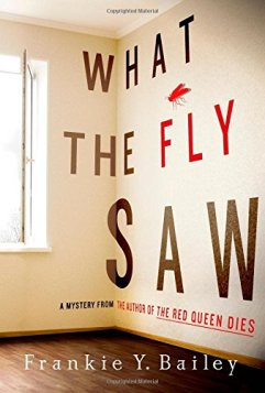 White room wall with edge of window showing on left side of book cover. What the Fly Saw written bolding on the wall.
