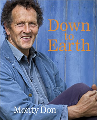 Book Cover. Image of Monty Don in his blue shirt, blue jacket, and a blue barn in background.